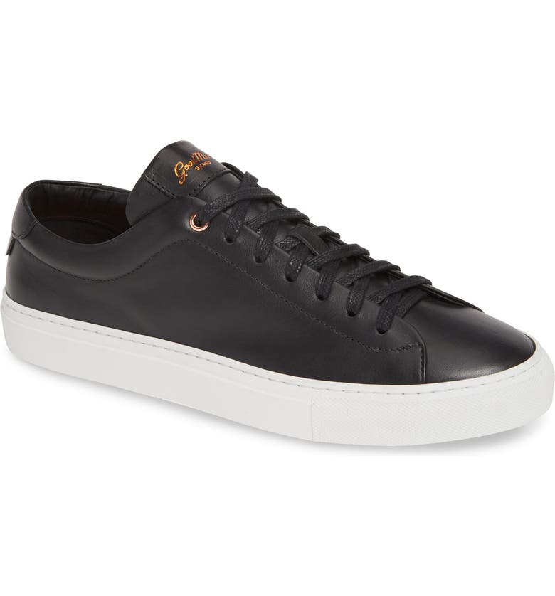 GOOD MAN BRAND Edge Sneaker, Main, color, BLACK LEATHER