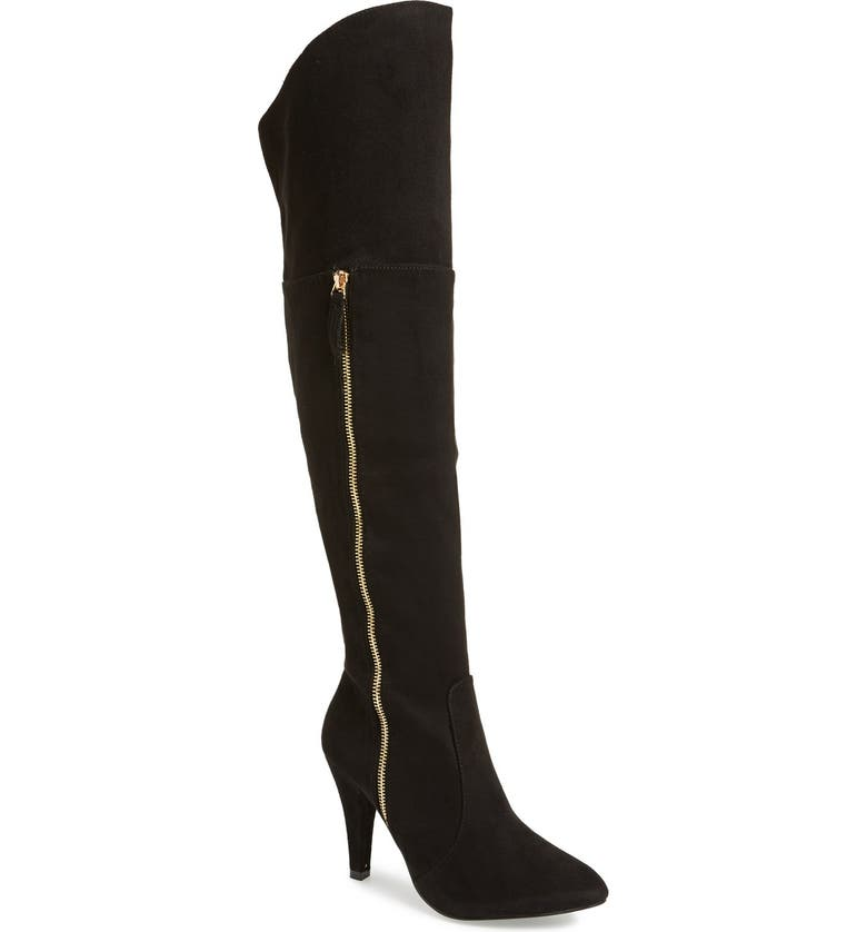 N.Y.L.A. 'Ashira' Over the Knee Boot, Main, color, 001