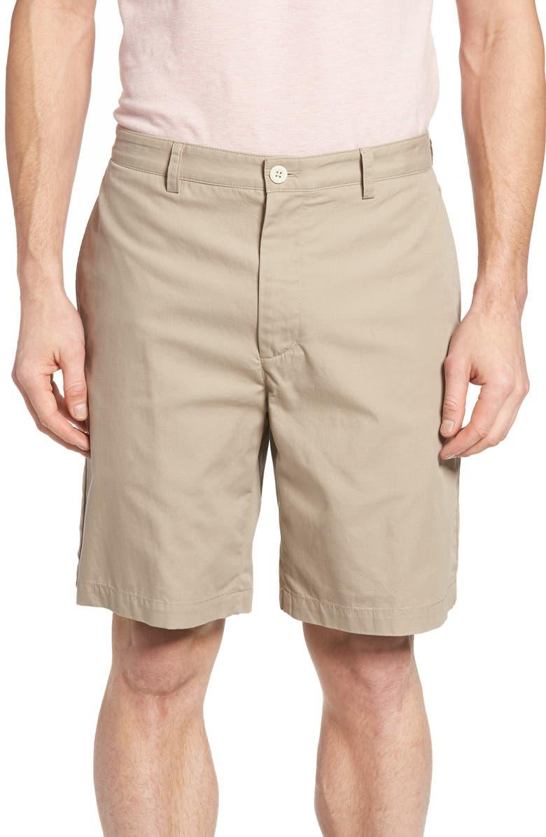 VINEYARD VINES 9 Inch Stretch Breaker Shorts, Main, color, KHAKI