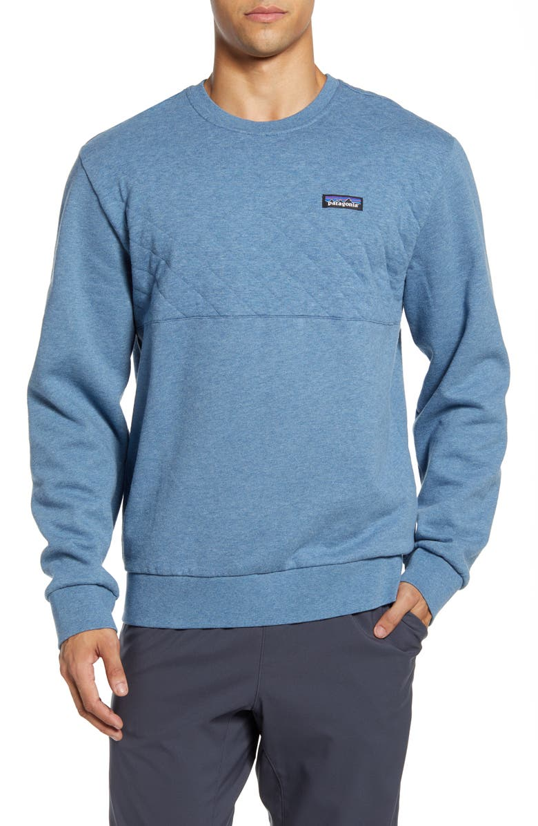 PATAGONIA Quilted Sweatshirt, Main, color, PIGEON BLUE