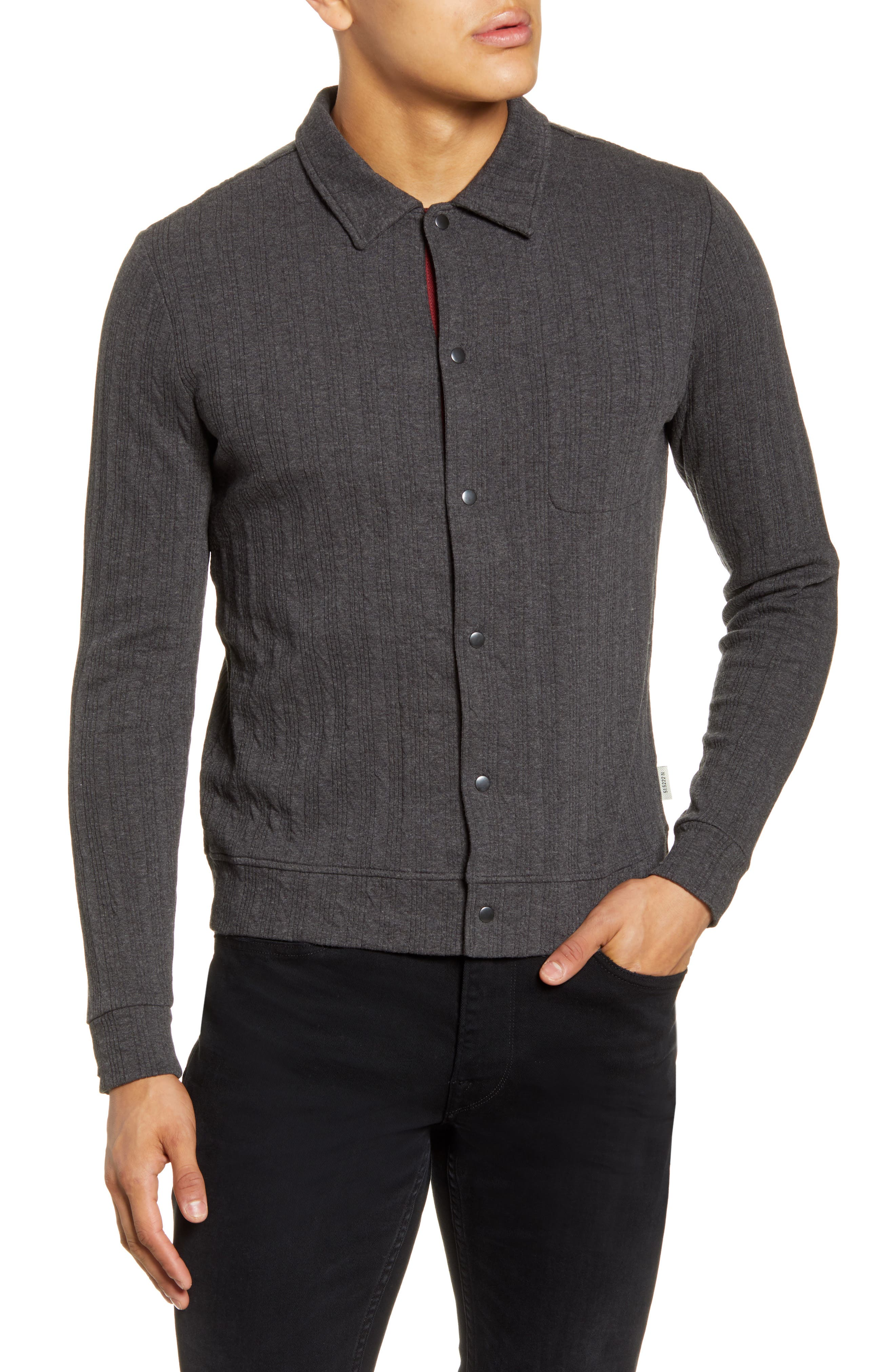 Rundell Slim Fit Snap Front Organic Cotton Jacket by Oliver Spencer