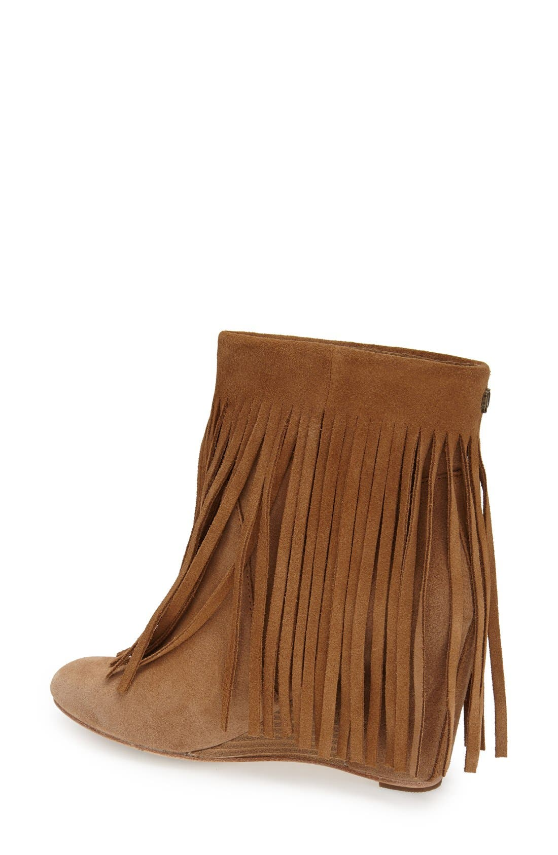 ,                             'Zarin' Fringe Wedge Bootie,                             Alternate thumbnail 8, color,                             200