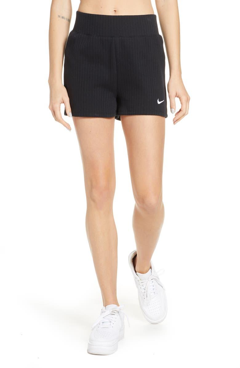 Nike Sportswear Rib Cotton Shorts | Nordstrom