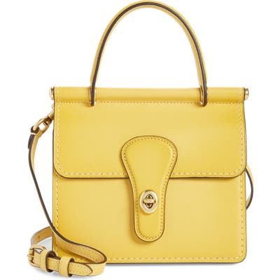 Coach The Coach Originals Willis Leather Top Handle Bag - Yellow