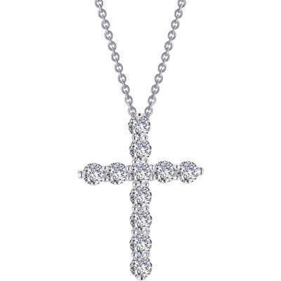 Lafonn Simulated Diamond Cross Pendant Necklace