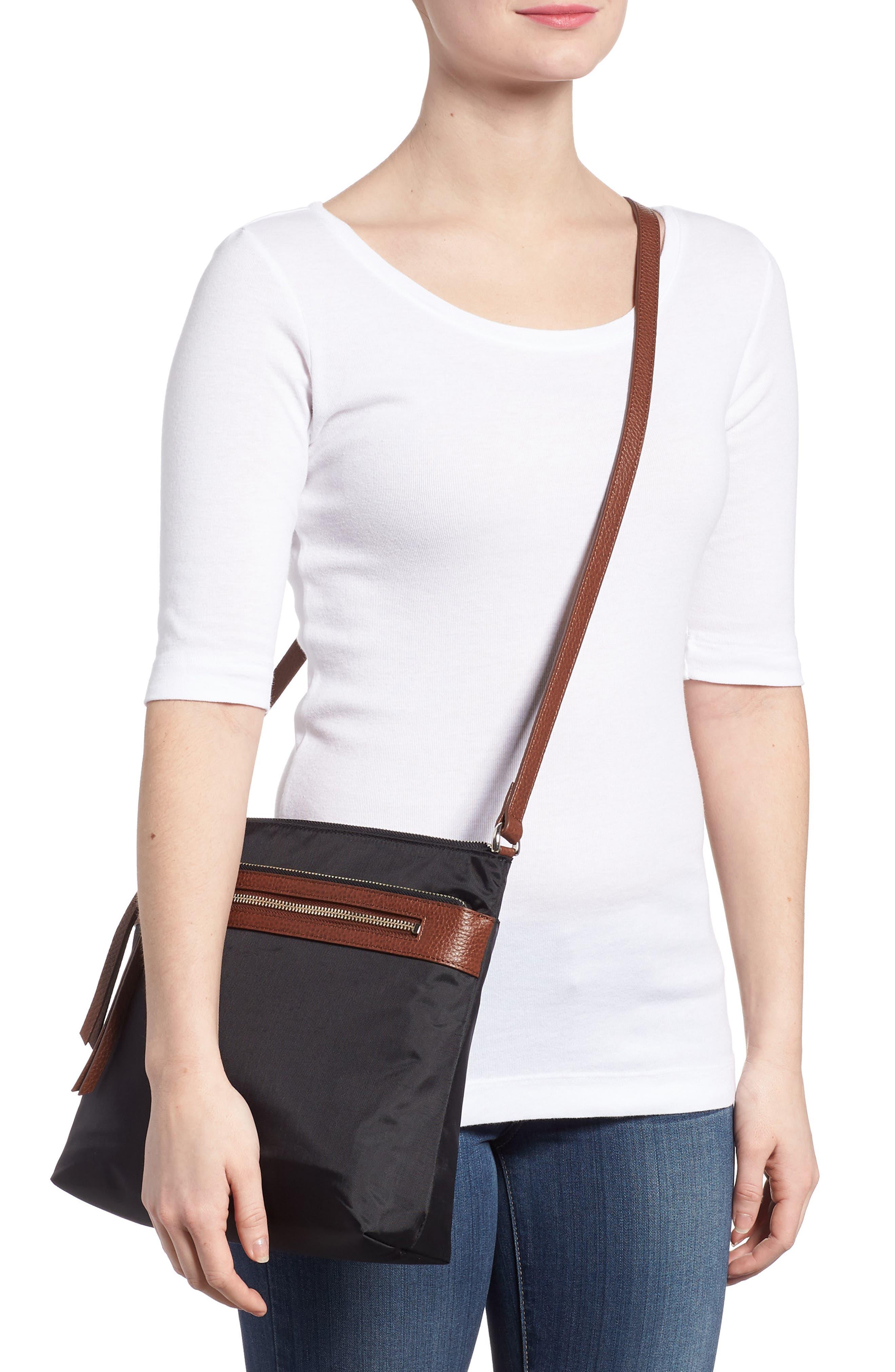 ,                             Kaison Nylon Crossbody Bag,                             Alternate thumbnail 2, color,                             BLACK/BROWN