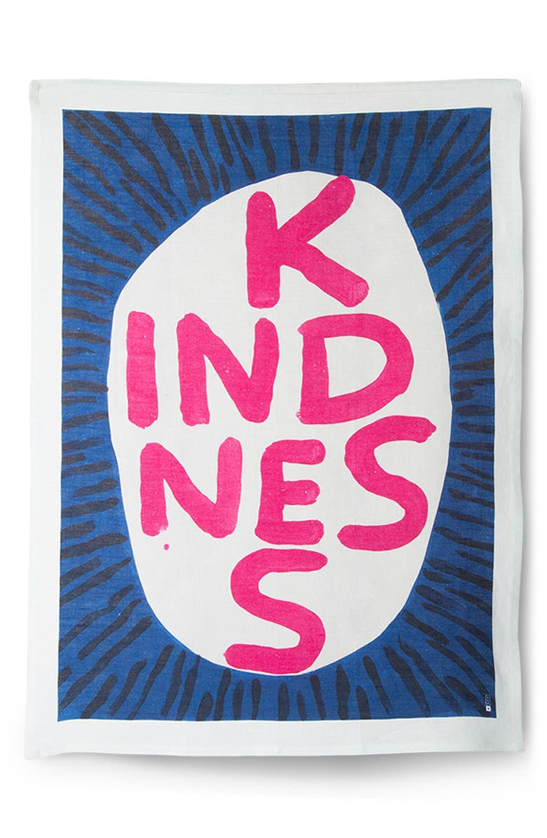 THIRD DRAWER DOWN Kindness Tea Towel, Main, color, 400