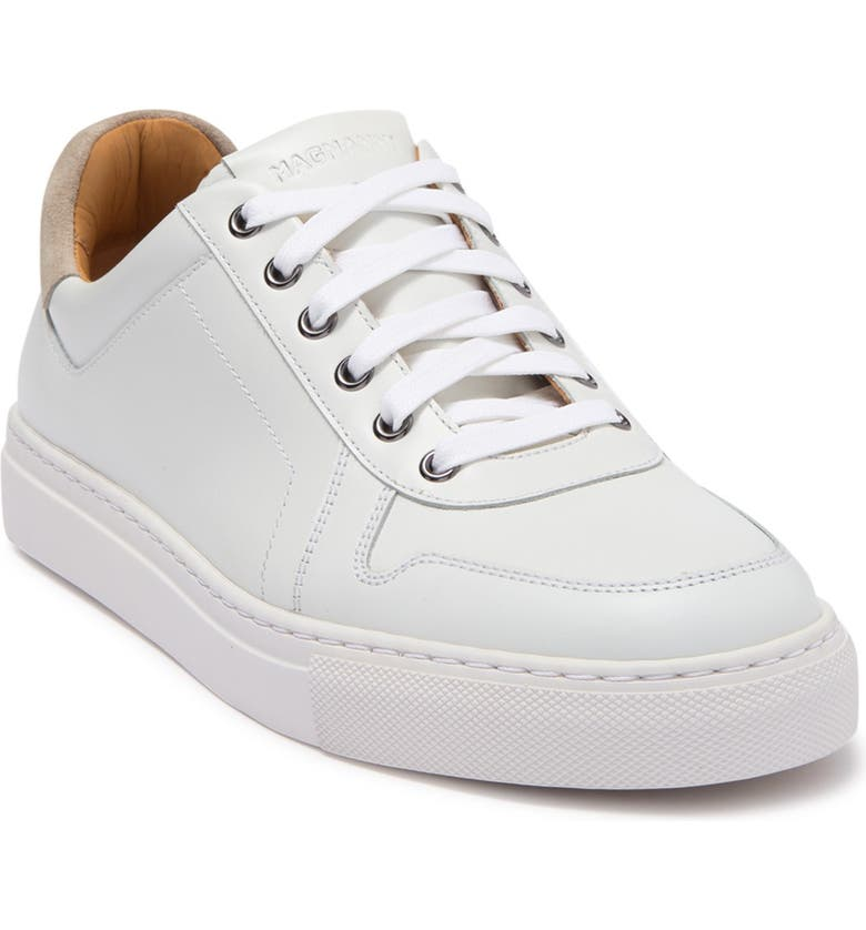 MAGNANNI Bobbie Leather Sneaker, Main, color, WHITE / IVORY SUEDE