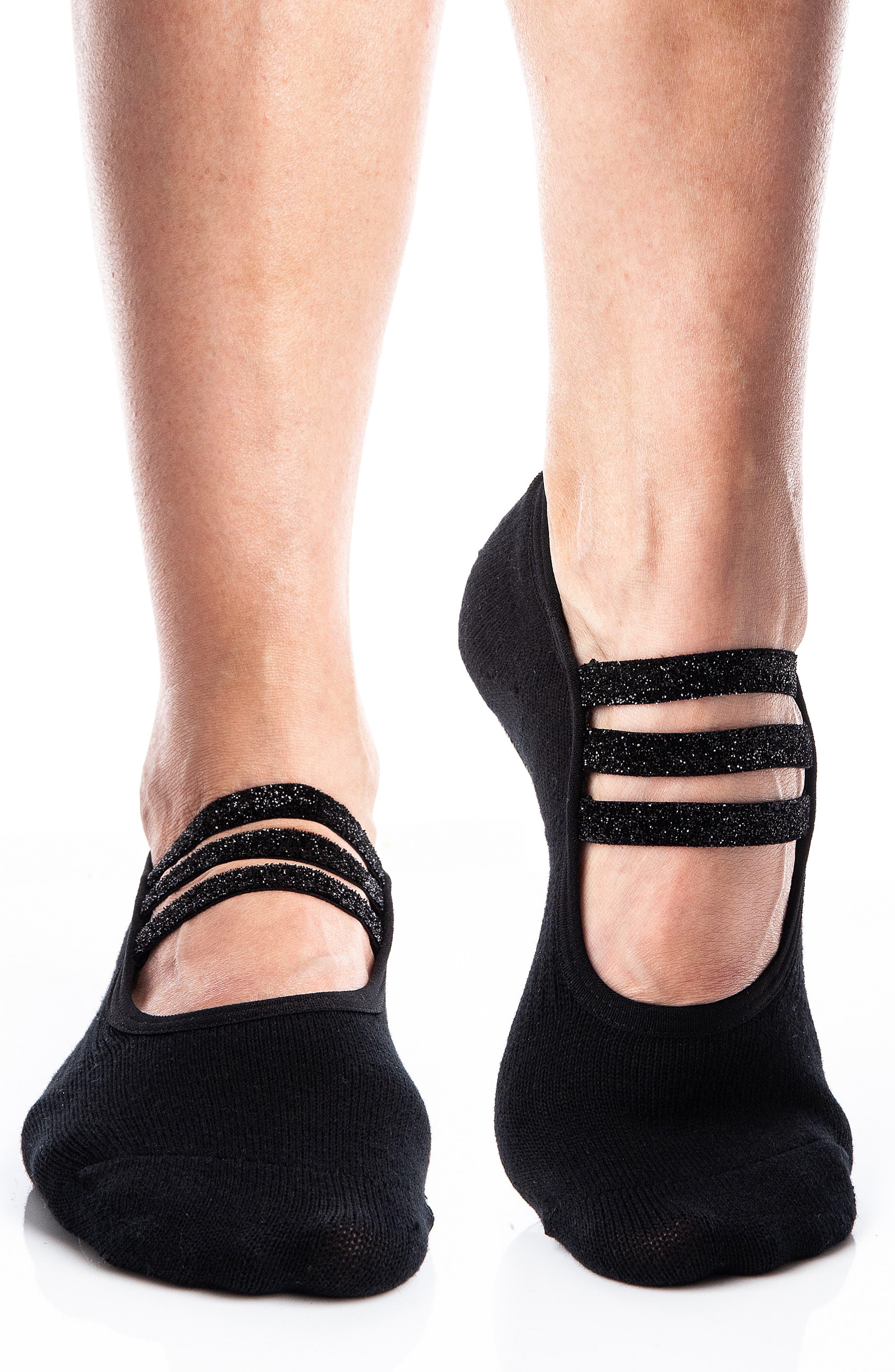 Sparkle 2-Pack No-Slip Closed Toe Socks