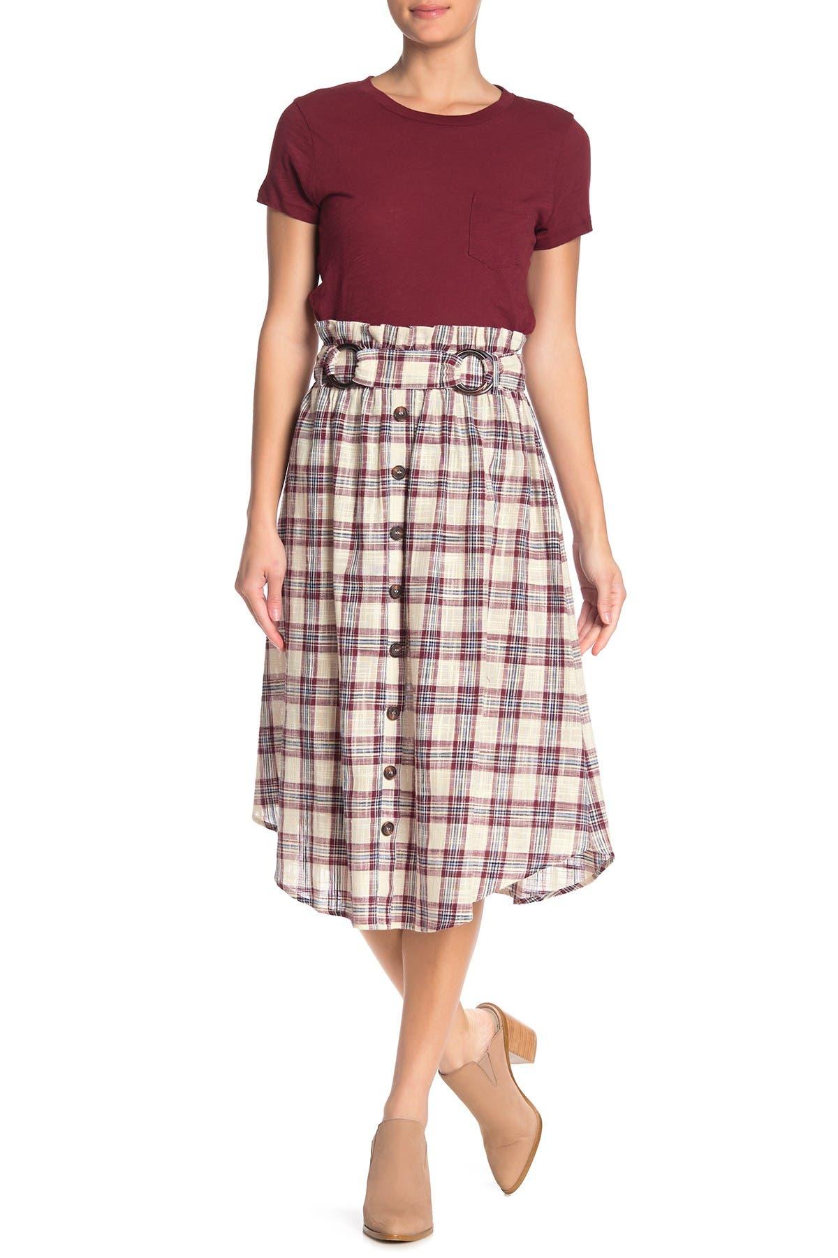 Image of Moon River Double Ring Belt Skirt