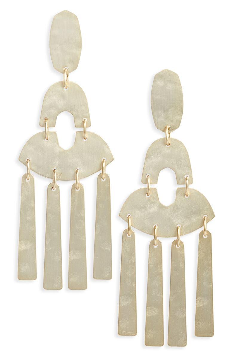 KENDRA SCOTT Kitty Drop Earrings, Main, color, GOLD