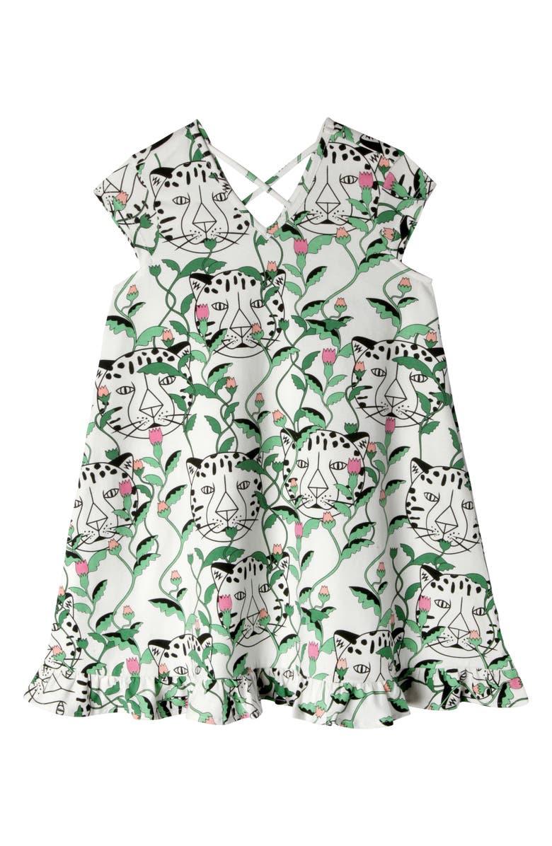 ART & EDEN x Animal Planet Vivian Dress, Main, color, FLORAL LEOPARD