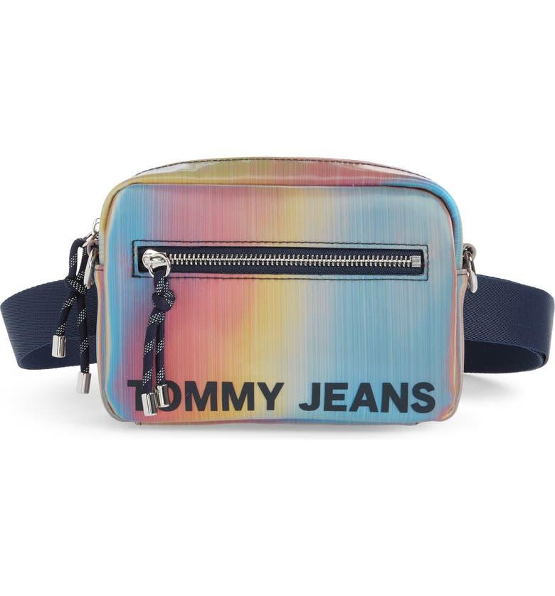 TOMMY JEANS Rainbow Belt Bag, Main, color, RAINBOW