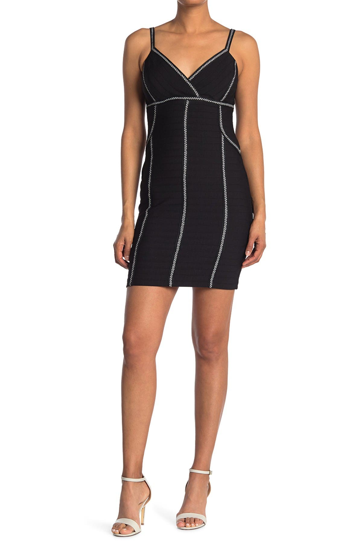 Image of GUESS Contrast Stitch Bodycon Mini Dress