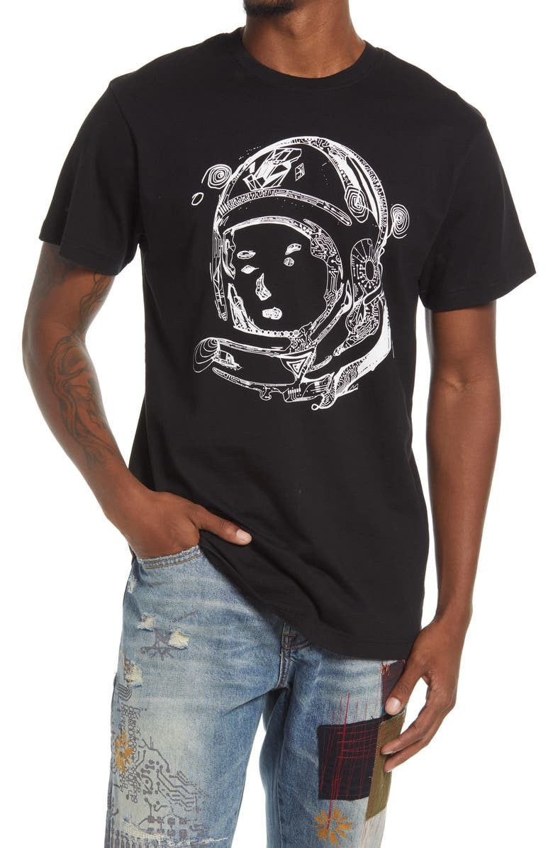 BILLIONAIRE BOYS CLUB BB Helmet Graphic Tee, Main, color, BLACK