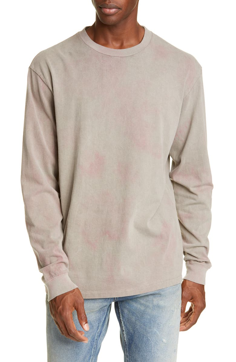 JOHN ELLIOTT Double Dye Long Sleeve University T-Shirt, Main, color, GREY