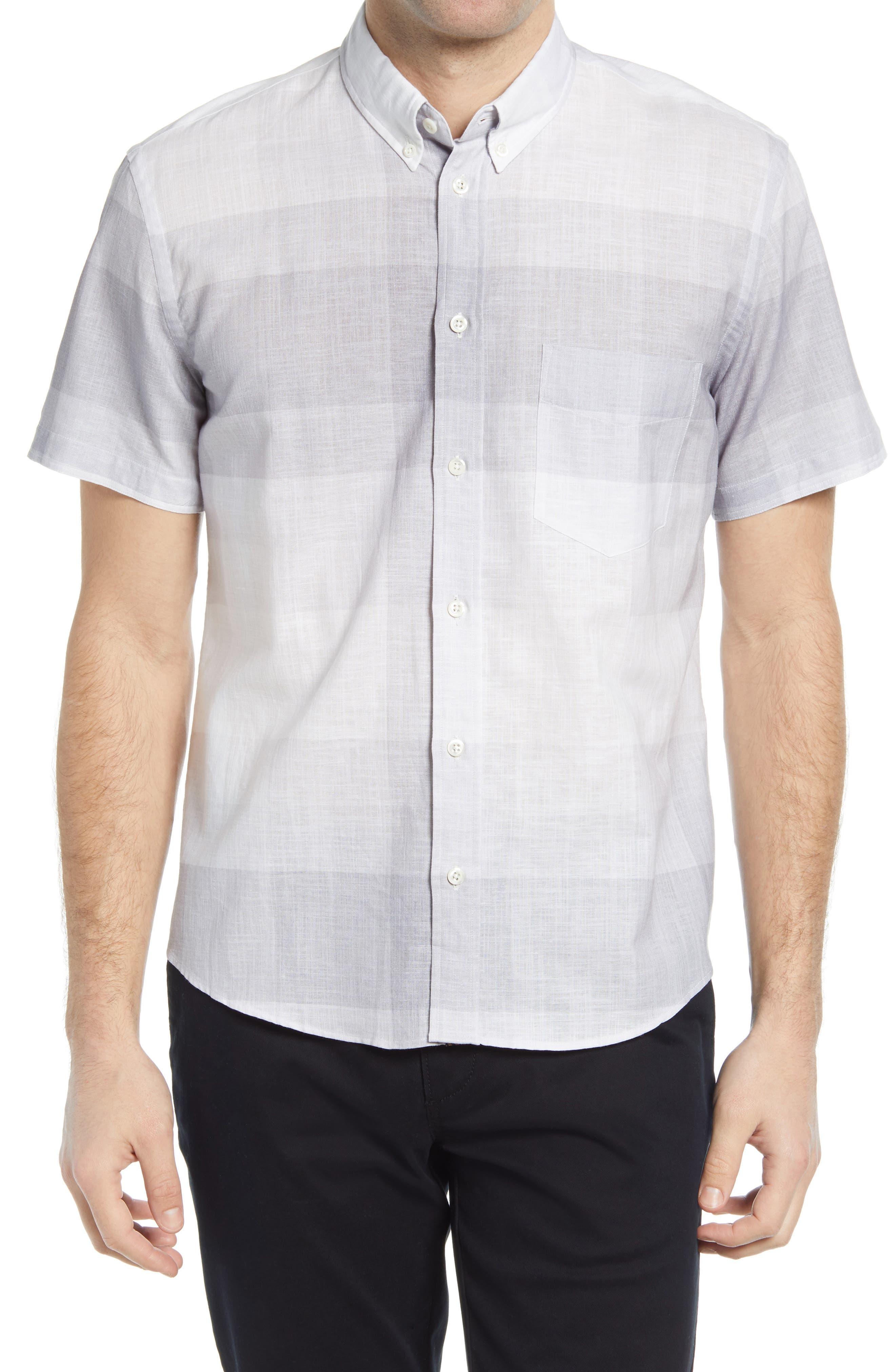 Kirby Plaid Cotton & Linen Short Sleeve Button-Down Shirt