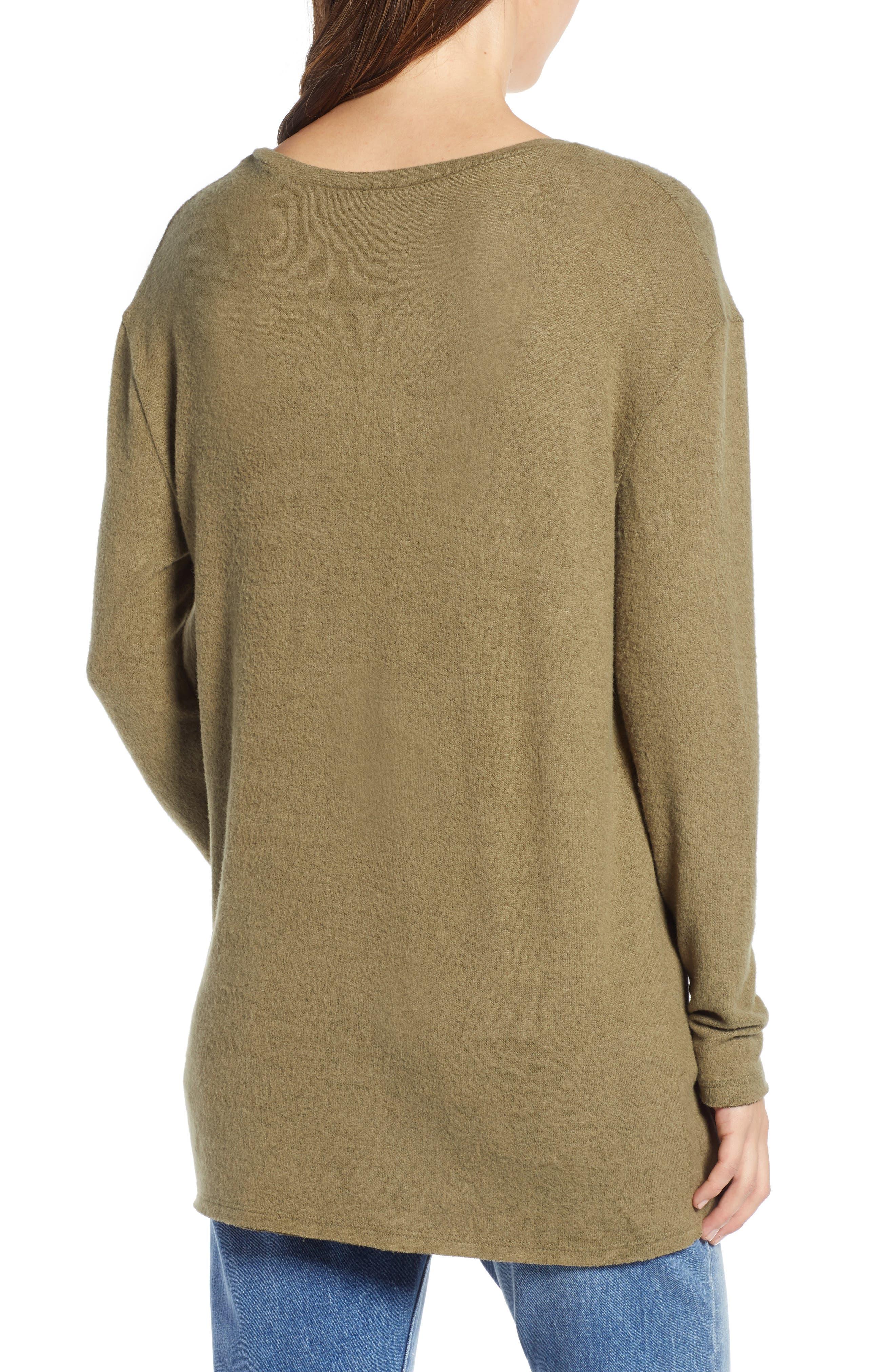 ,                             Cozy V-Neck Sweater,                             Alternate thumbnail 13, color,                             301