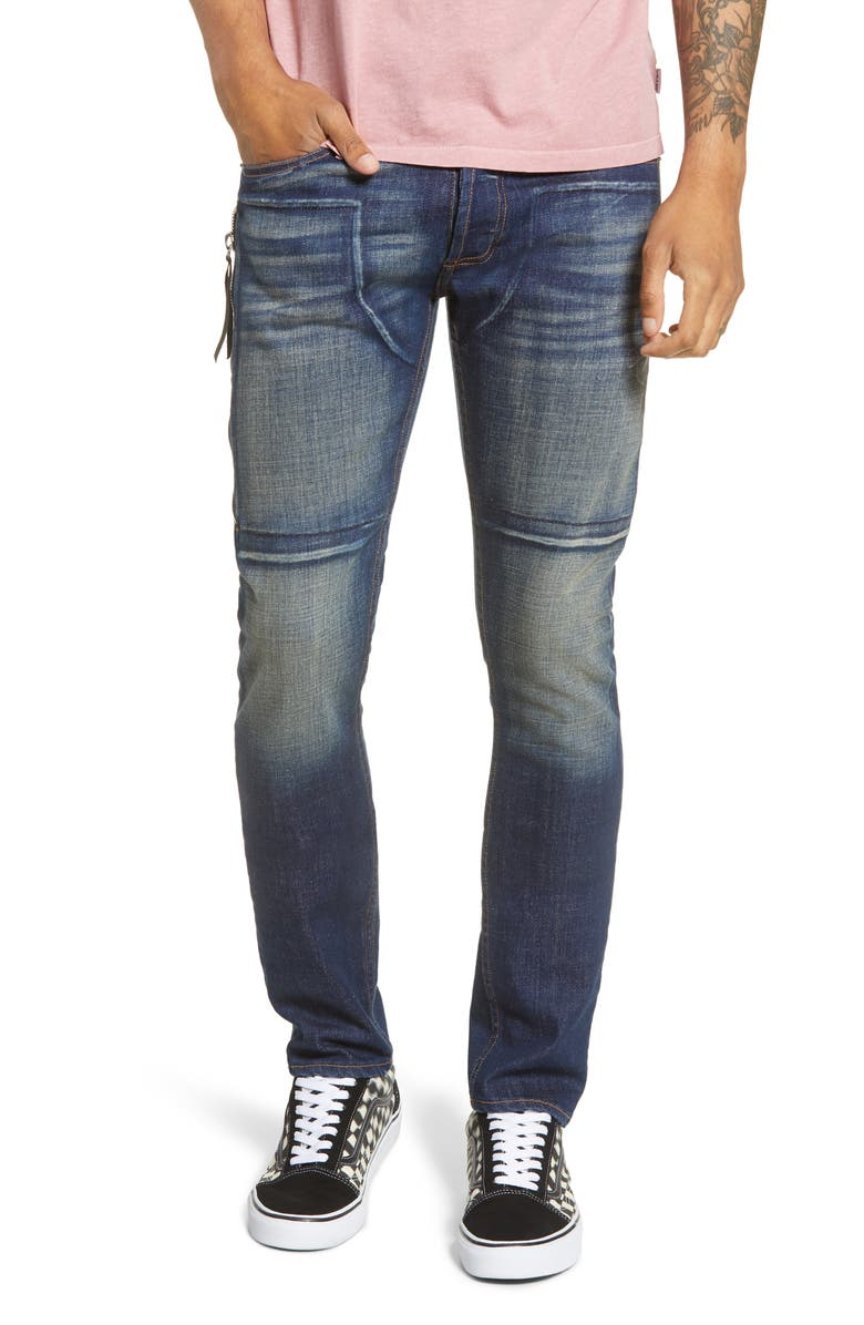 MRCLA Trafford Slim Straight Leg Jeans, Main, color, DARK INDIGO
