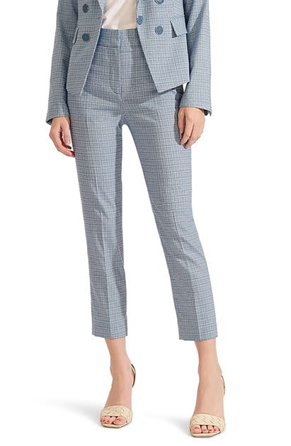 Veronica Beard GAMILA PLAID CROP PANTS