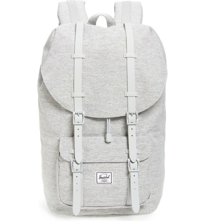 HERSCHEL SUPPLY CO. Little America Backpack, Main, color, LIGHT GREY CROSSHATCH