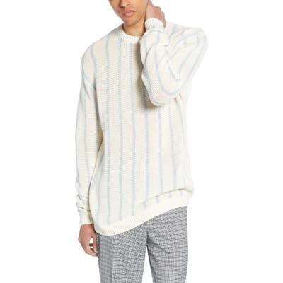 Topman Chunky Stripe Sweater, Green