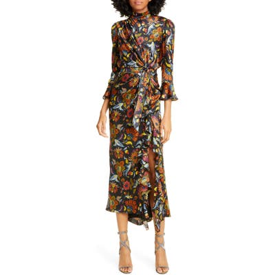Cinq A Sept Juliana Floral Dress, Black