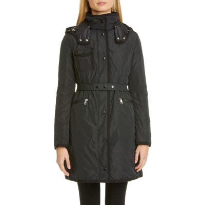 Moncler Mauve Water Resistant Taffeta Down Coat, (fits like 10-12 US) - Black