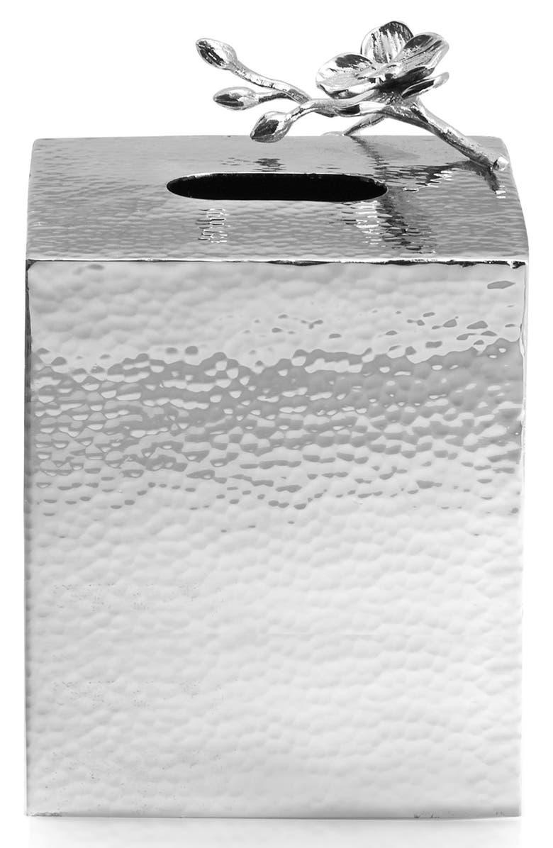 MICHAEL ARAM White Orchid Tissue Box Holder, Main, color, 040