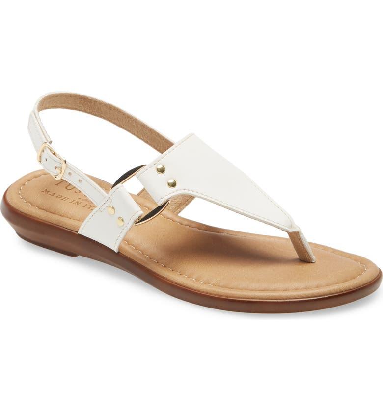 TUSCANY BY EASY STREET<SUP>®</SUP> Karaleah Slingback Sandal, Main, color, WHITE LEATHER
