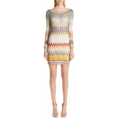 Missoni Pointelle Long Sleeve Sweater Dress, US / 48 IT - Ivory