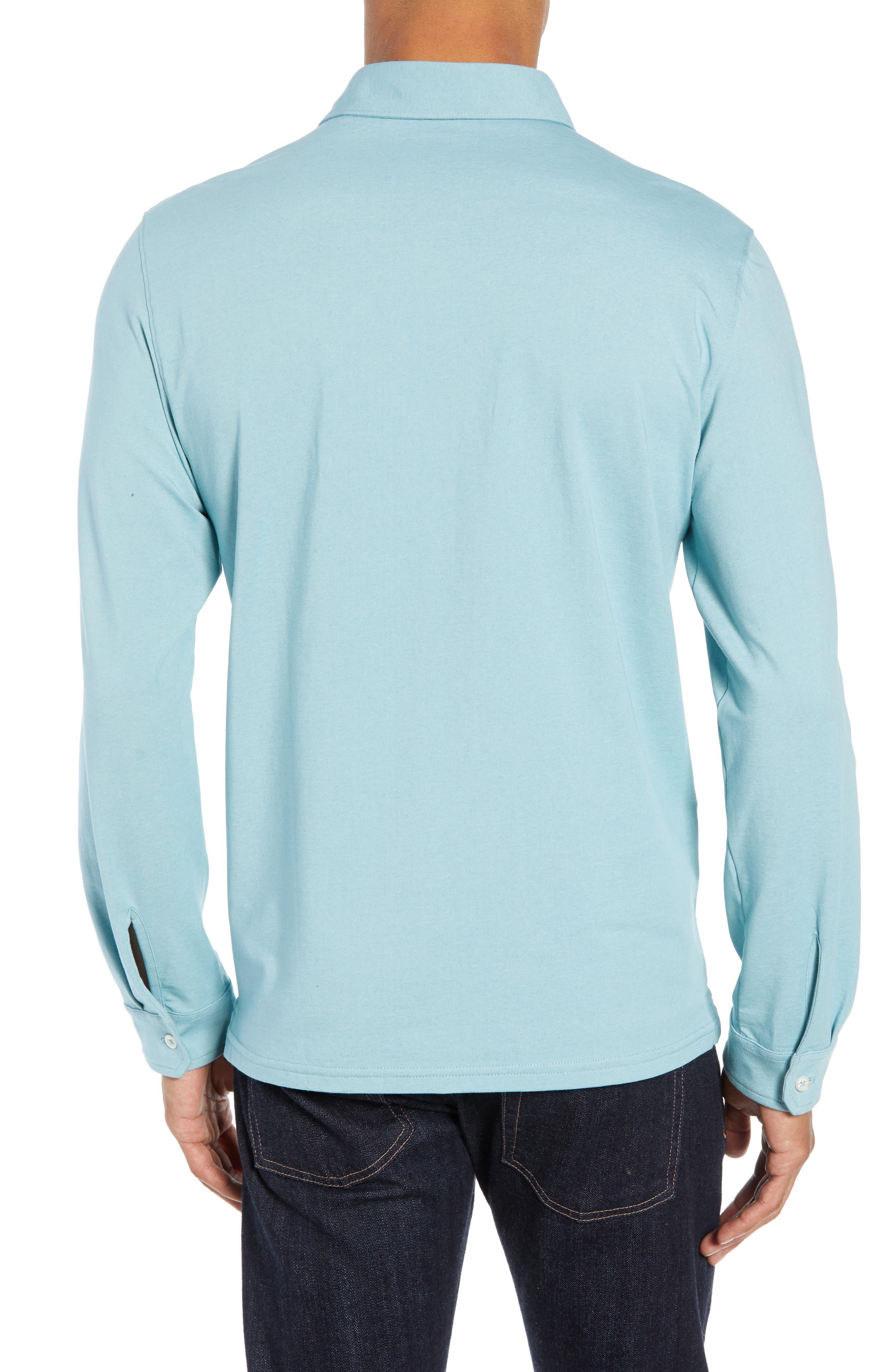 ,                             Benton Long Sleeve Polo,                             Alternate thumbnail 8, color,                             439