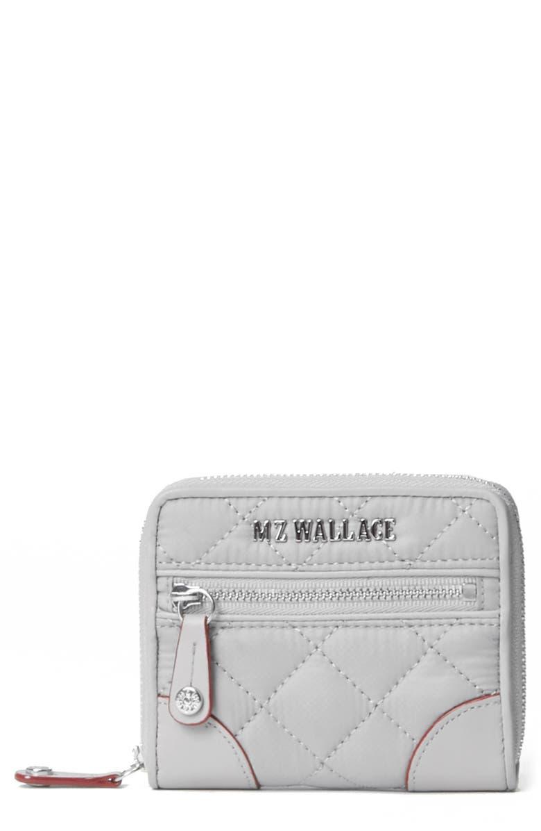 MZ WALLACE Mini Crosby Wallet, Main, color, FOG