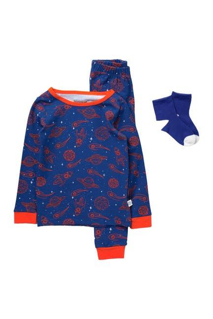 Image of Sleep On It Space Print Pajama & Socks Set