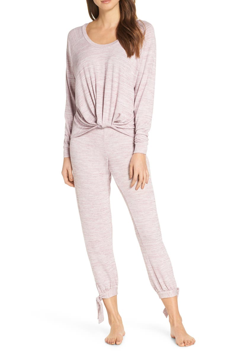 UGG<SUP>®</SUP> Fallon Long Pajamas, Main, color, PINK DAWN
