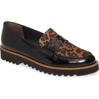 Paul Green Carrie Platform Loafer, US / 6.5UK - Black
