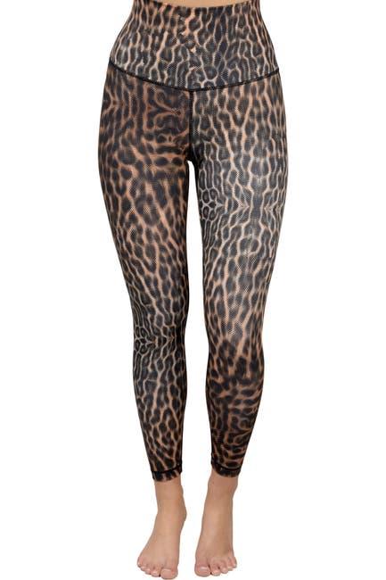 Image of 90 Degree By Reflex Animal Print High Waist Leggings
