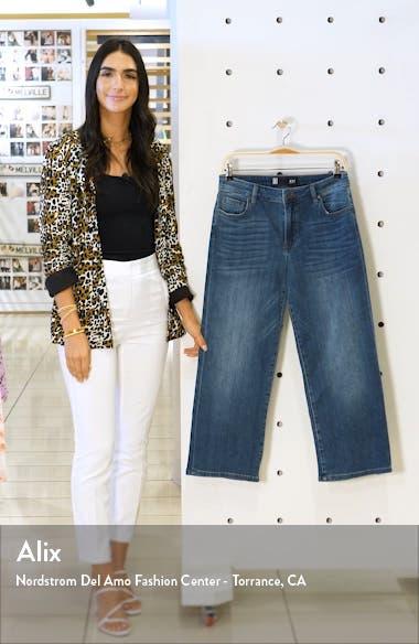 High Waist Wide Leg Crop Jeans, sales video thumbnail