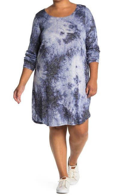 Image of TASH + SOPHIE Tie Dye Knit Dress