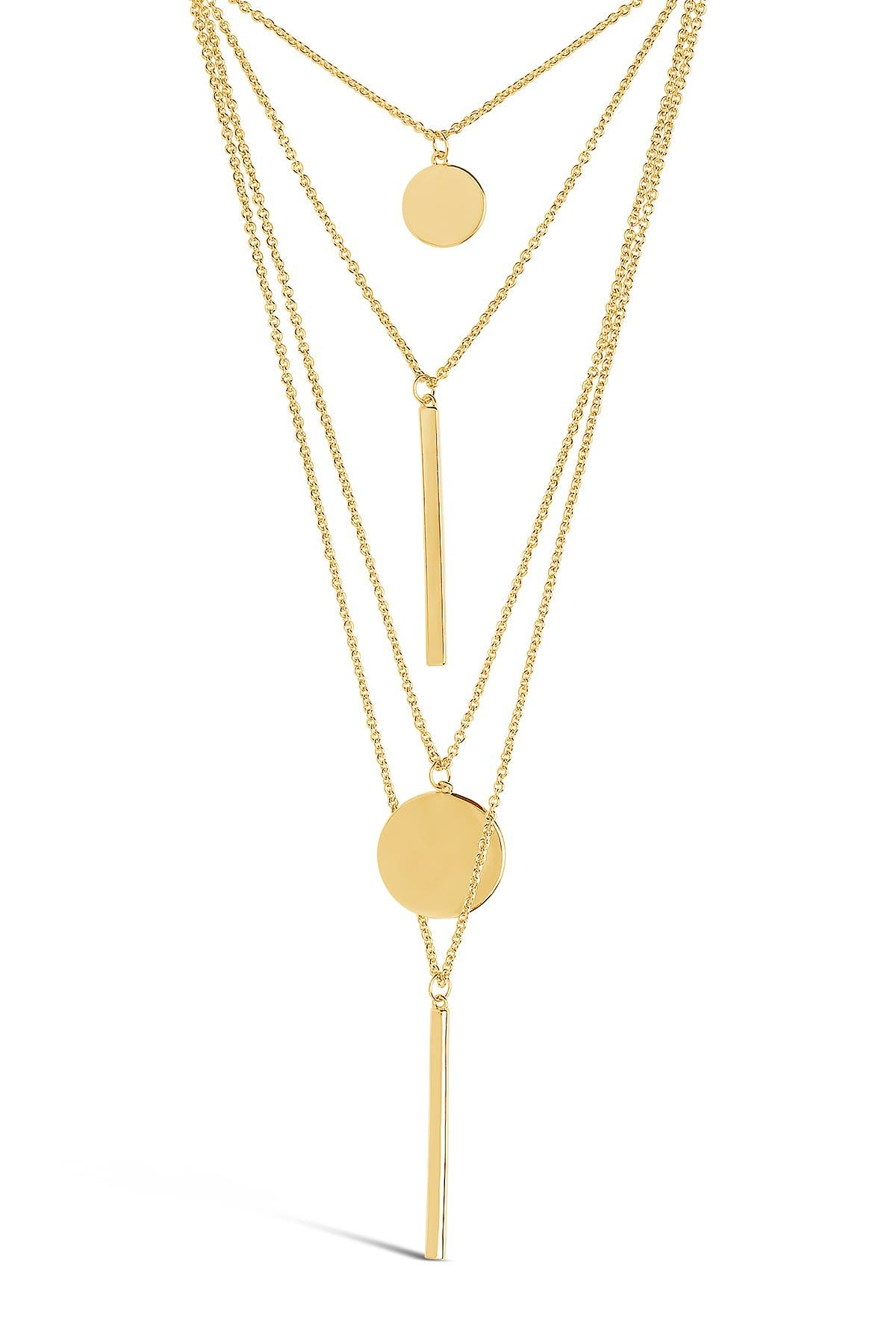 Image of Sterling Forever Circle & Bar Layered Necklace
