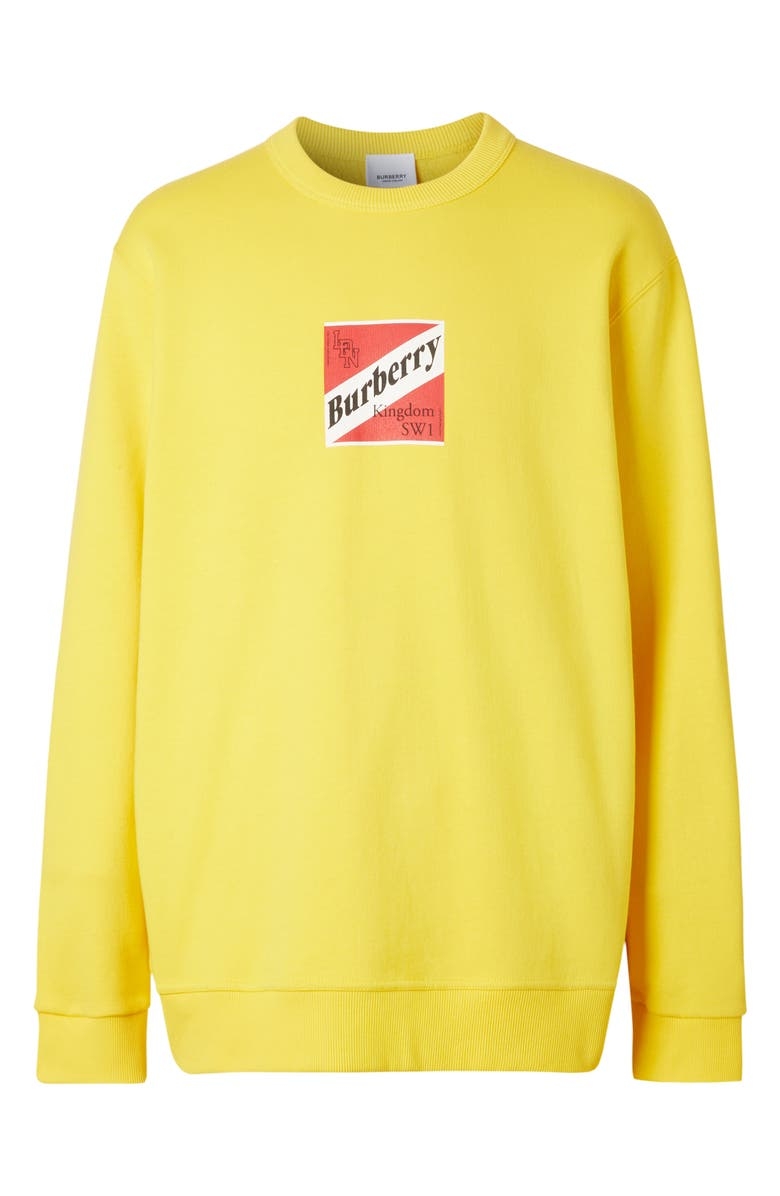 BURBERRY Lachey Sweatshirt, Main, color, CANARY YELLOW