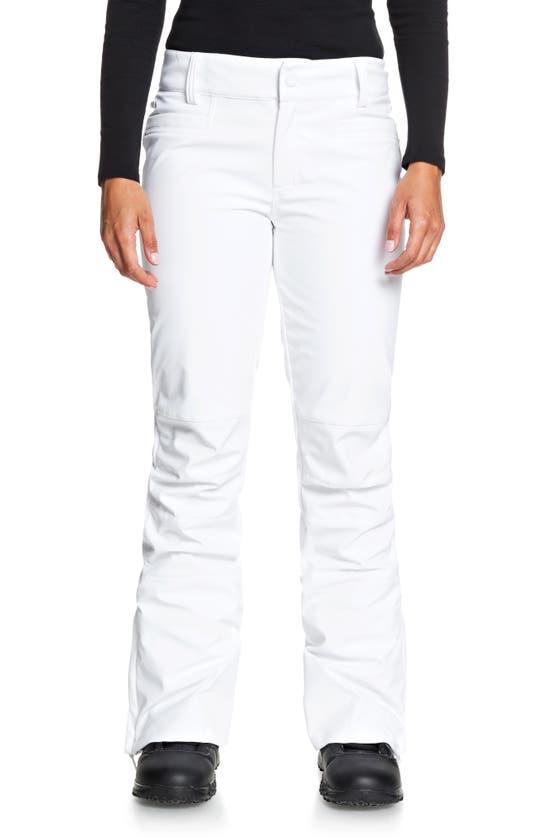 Roxy Creek Short Shell Dryflight Snow Pants In Bright White