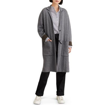 Alex Mill Hall Wool Blend Sweater Coat, Grey
