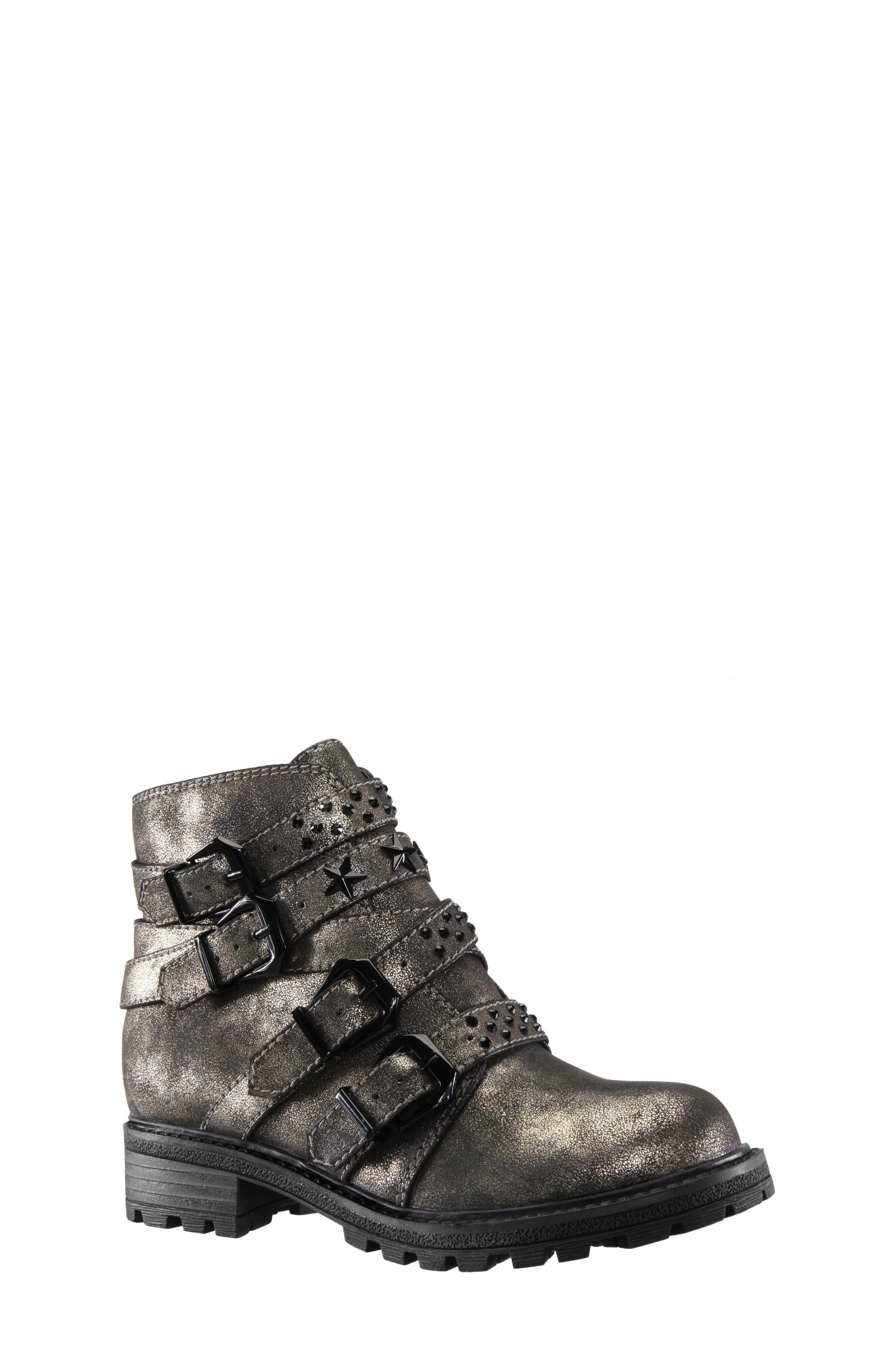 Toddler Girls Nina Wenona Sparkle Buckle Boot Size 12 M  Metallic