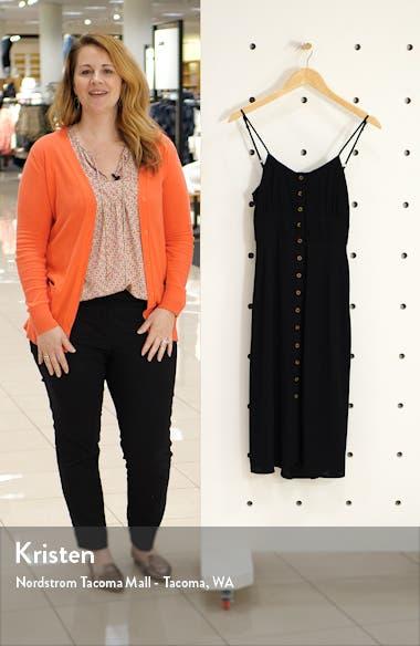 Button Front Tie Back Dress, sales video thumbnail