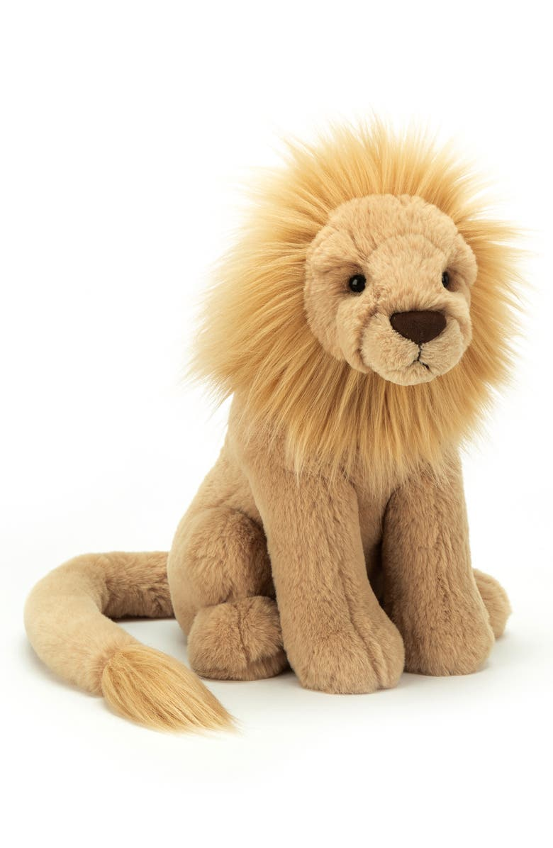 JELLYCAT Large Leonardo Lion Stuffed Animal, Main, color, LIGHT BROWN