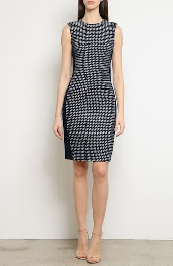 Dotted Inlay Tweed Knit Dress, video thumbnail