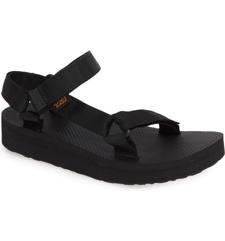 TEVA Midform Universal Sandal, Main, color, BLACK FABRIC