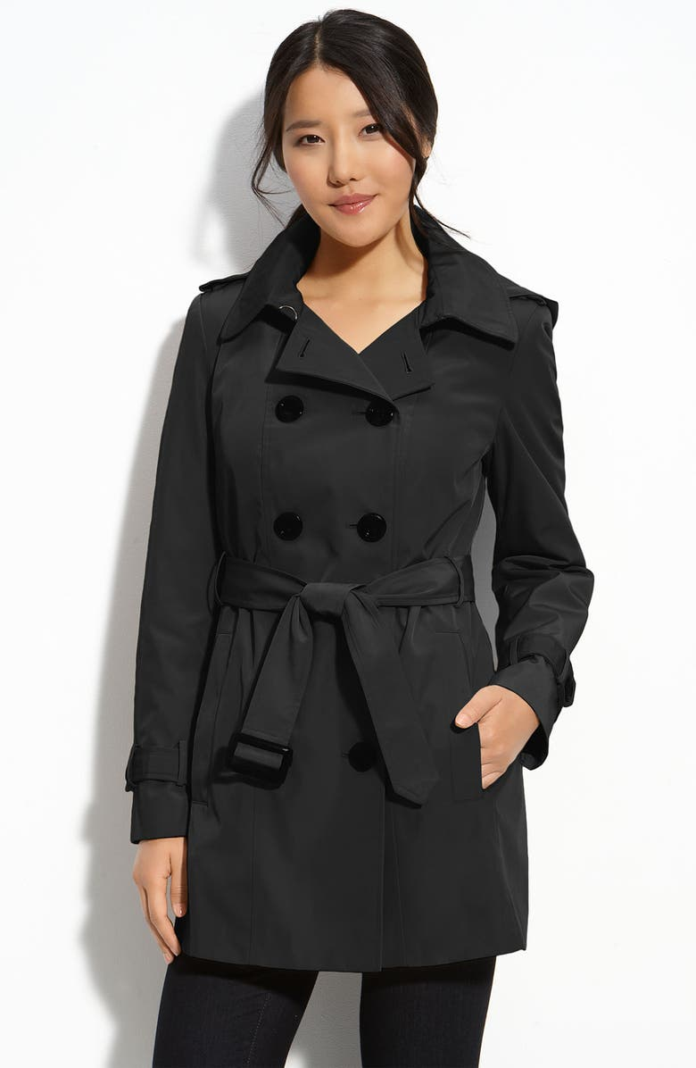 CALVIN KLEIN Trench with Zip Out Lining, Main, color, Black