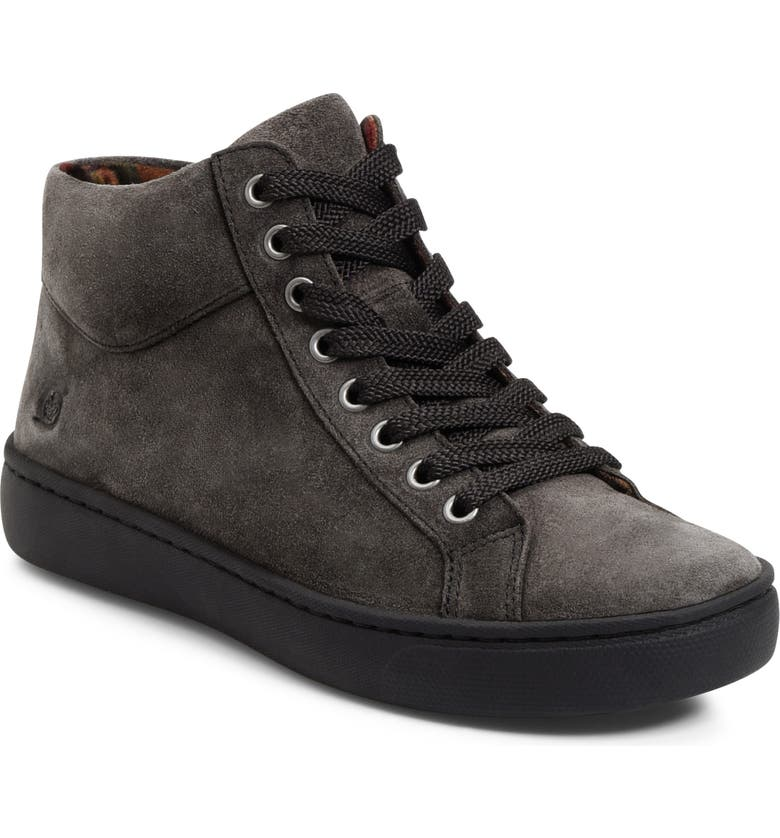 BØRN Swanson Sneaker, Main, color, DARK GREY SUEDE